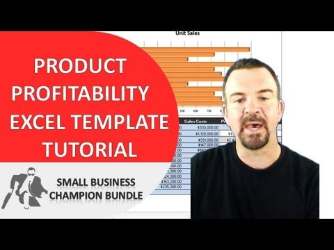 Product Profitability Analysis Excel Template - Spreadsheet Tutorial