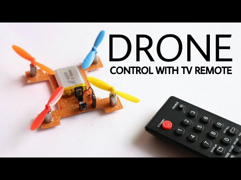 How To Make Drone Using Only Transistor And Control With TV Remote
