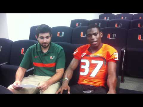 Ladarius Gunter Interview 5/18/2012 video.
