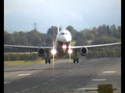 Monarch Airbus A320 A321 wind shear double go-around crosswind landing attempt Birmingham airport