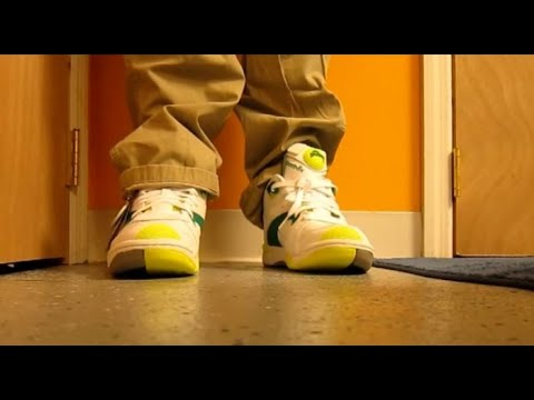 Reebok Court Victory Pump White/Green/Citron Sneaker Review With @DjDelz