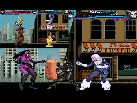 Mugen : Catwoman (Dc Comics) Vs Black Cat (Marvel) (Two Battle)(Request)