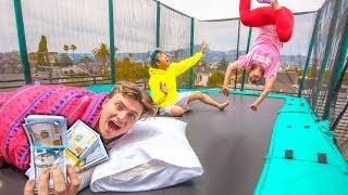 Video LAST TO LEAVE TRAMPOLINE WINS $10,000 MP3, 3GP, MP4, WEBM, AVI, FLV Juni 2019