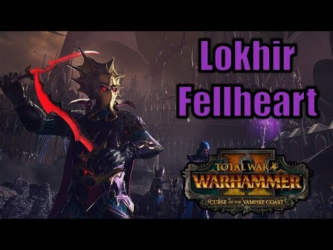 Lokhir Fellheart - NEW FLC Legendary Lord - Total War Warhammer 2 Vampire Coast DLC