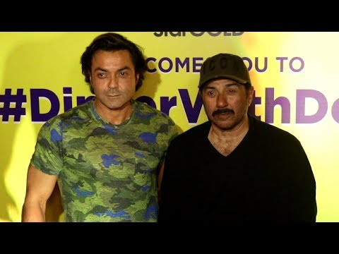ACTOR BOBBY DEOL ALONG WITH BROTHER SUNNY DEOL SPOTTED AT RESTAURANT