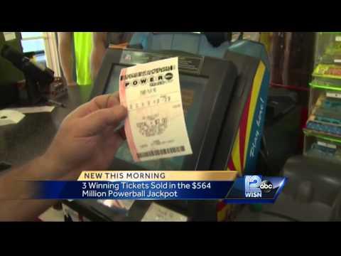 Powerball sells $1m winning ticket in Racine