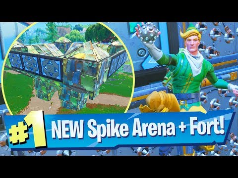 NEW Spiky Stadium + Legendary Port-A-Fortress Grenades Gameplay - Fortnite Battle Royale
