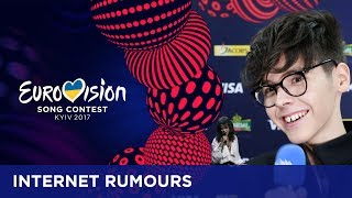 We have asked the participants about the weird or funny rumours people spread about them on the internet. If you want to know more about the Eurovision Song Contest, visit https://eurovision.tv