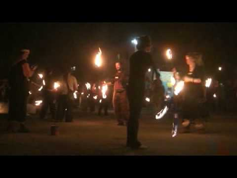 BYRON BAY ARTS FACTORY – FIRE TWIRLING RECORD 2009