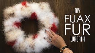 Faux Fur Wreath - DIY THRIFTMAS Day 2 by Tiffyquake