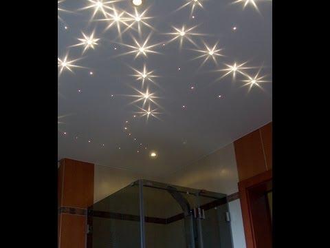 Zestaw Kryształowe Gwiazdy, lampy łazienkowe, światło do łazienki, niebo w łazience