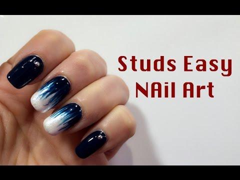 nail art con le borchie