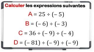 Maths 4ème - Les nombres relatifs en écriture décimale Exercice 5