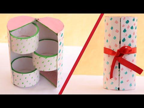 Video DIY Cute mini 3 drawers cylinder box/jewelry organizer - Recycling Cardboard| Art & Creativity ❤ download in MP3, 3GP, MP4, WEBM, AVI, FLV January 2017