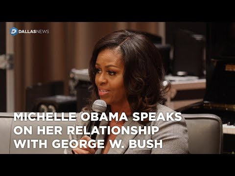 Michelle Obama speaks on her relationship with George W. Bush