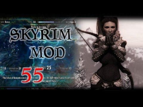 Skyrim: Обзор модов #55 - Ishs Respec Mod, HeadTrack Crosshair, Northgirl Armor