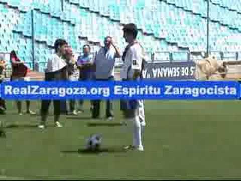 Presentación en el Real Zaragoza