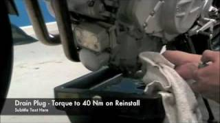 9. F800 Service DVD - Oil Change