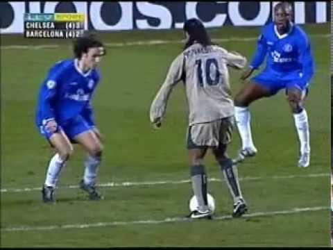 champions league 2004-2005: ronaldinho segna al chelsea