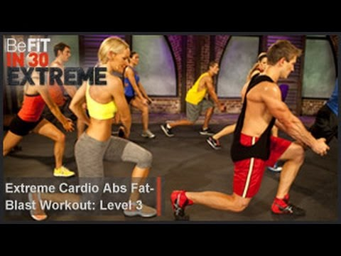 befit - Extreme Cardio Abs Fat Blast Workout | Level 3 from BeFit in 30 Extreme is a fierce, fat-burning, abdominal workout that combines plyometric, cardio, and str...