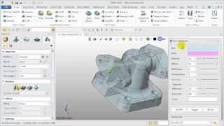 Part Design ZW3D Tutorial Shape Pipe connector