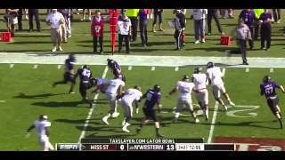 Tyler Russell vs Northwestern (2012 Bowl)