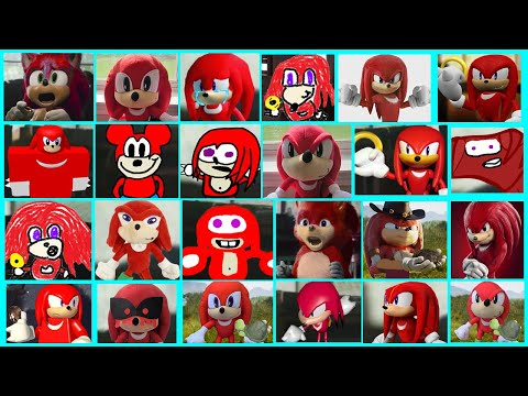 Sonic The Hedgehog Movie - Knuckles Uh Meow All Designs Compilation