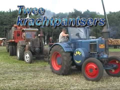Gloeikop weekend wortel 2010 2x lanz bulldog slepen 2 wagens