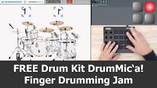 Sennheiser DrumMic'a! Finger Drumming Jam with AKAI MPD218