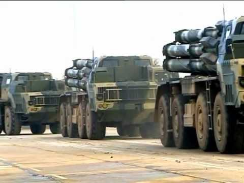 Topol M missile - RUSSIA, Various of Road Mobile Topol-M missile systems, 16-wheeled transporter-erector-launchers & more... -Video from RIA Novosti (Видео с Российское агентс...