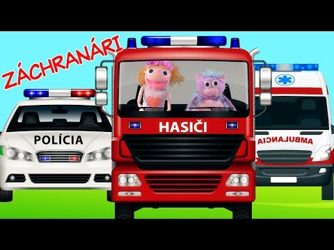 Autá - hasiči, policajti, sanitka   príbeh o záchranárskych autách   Hanička a Murko