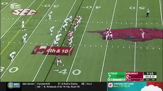 UNT vs Arkansas - Trick Play Of The Season! - NNG Sports - America This Week