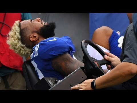 Odell Beckham Jr. Gruesome Ankle Injury (видео)