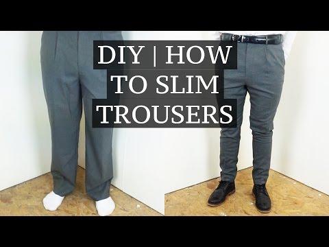 DIY   How To Slim & Shorten Suit Trousers   Josh Barnett