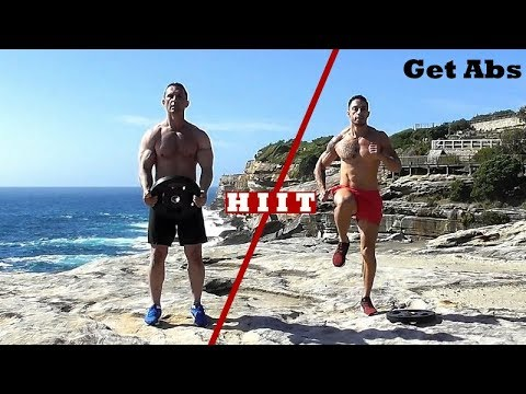FAT BURNER HIIT workout using just a weight plate.  Fat burning exercises 650cals