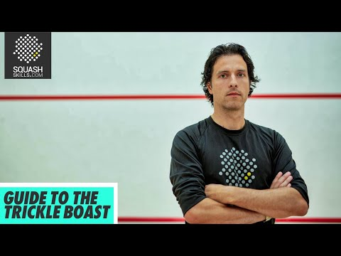 Squash tips: Guide to the boast with Lee Drew - The Trickle Boast