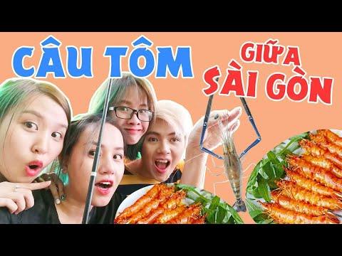Cực lạ hồ câu Tôm giữa Sài Gòn : Câu xong nướng luôn - Thời lượng: 6 phút.