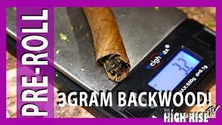 3.2 Gram MoonRock BackWood Blunt: High AF PreRoll #13 by 2 Girls 1 Bong