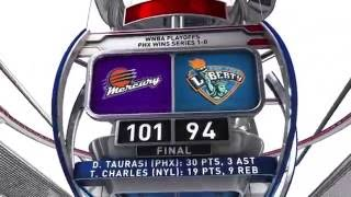 Diana Taurasi Scores 30 Points as Mercury Eliminate Liberty by WNBA