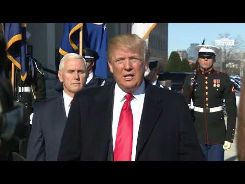 President Trump Delivers a Statement at the Pentagon