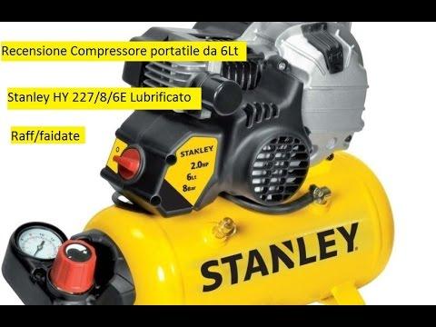 Recensione compressore portatile Stanley da 6Lt