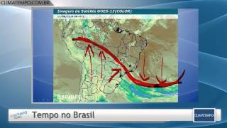 Grande frente fria atua sobre o Brasil associada a uma forte massa de ar polar. O ar frio se espalha sobre o Sudeste e sobre o Centro-Oeste. Confira a previs...