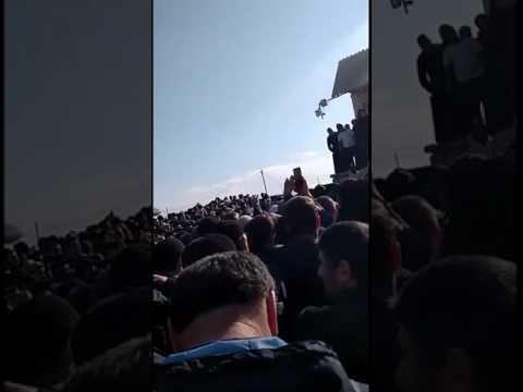 Журналист Максим Шевченко в лагере протестующих дальнобойщиков в Манасе, 18.04.2017