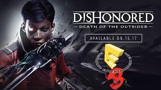 Трейлер игры Dishonored: Death of the Outsider показанные на E3Печально известная Билли Лерк возвращается в игре Dishonored: Death of the Outsider. Отыскав своего бывшего наставника, легендарного убийцу Дауда, Билли отправится в путешествие по мрачному преступному миру Карнаки, чтобы подготовить величайшее преступление в истории — убийство Чужого.Игра выйдет 15 сентября 2017 года для PC, PS4 и Xbox One.
