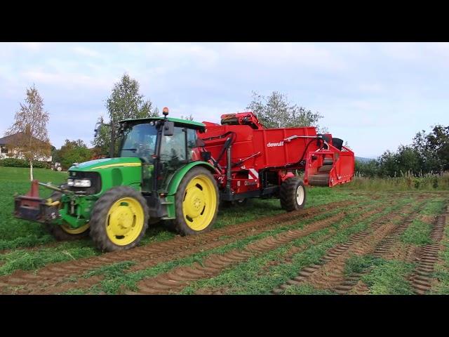 Комбайн Морковь DEWULF GBC с John Deere 5820 трактор — Андерс Hornstein AB Швеция