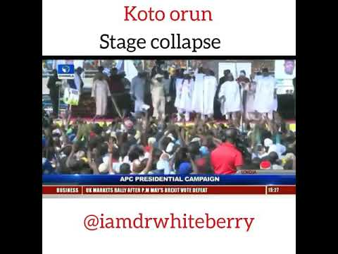Koto orun PDP stage collapse by Dr whiteberry Baba kamo