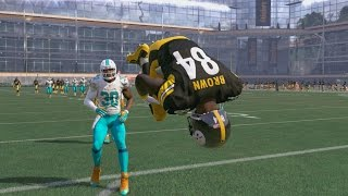 Can I Recreate Antonio Brown's TWO Amazing TD Catches vs the Dolphins in the NFL Wild Card Round??