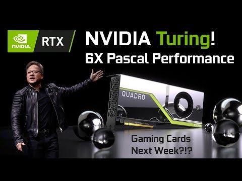 Nvidia Officially Says Turing 6X Faster Than Pascal!