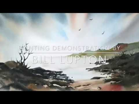 Painting Demonstration by Bill Lupton : Sunset over the Sea