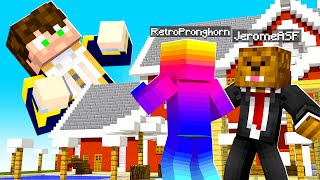 SHRINKING My Friend's HOUSE with A TINY Player Mod in Minecraft | JeromeASF